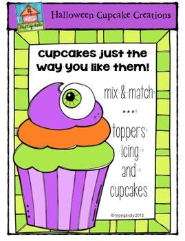 Halloween Cupcake Creations {P4 Clips Trioriginals Digital Clip Art}