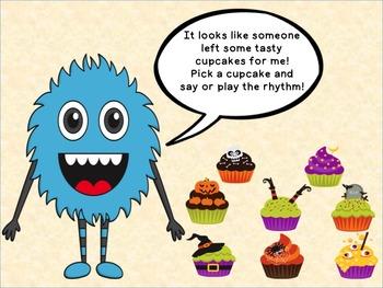 Halloween Cupcake Rhythms sixteenth notes Tika Tika/Tiri Tiri/Tipi Tipi