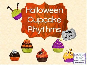 Halloween Cupcake Rhythms 1 eighth 2 sixteenth notes Ti Tika/Ti Tiri/Ti Tipi
