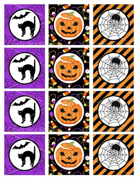 Halloween Cupcake Toppers or Stickers For DIY Parties