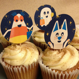 Cupcake Toppers or Stickers - Halloween Holiday Theme