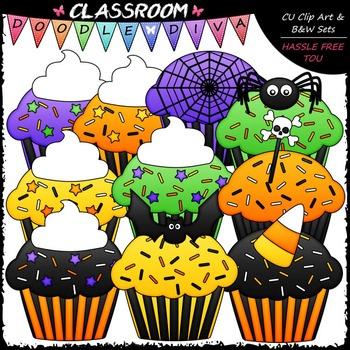 Halloween Cupcakes Clip Art - Halloween Clip Art