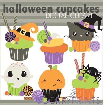 Halloween Cupcakes Digital Clip Art