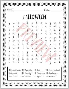Fall Halloween Cursive Handwriting WORD SEARCH HANDWRITING WITHOUT TEARS CURSIVE