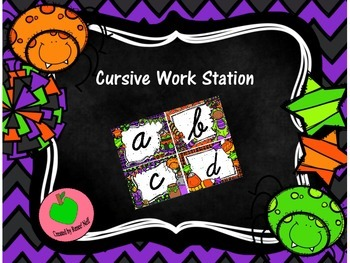 Halloween Cursive Work Station