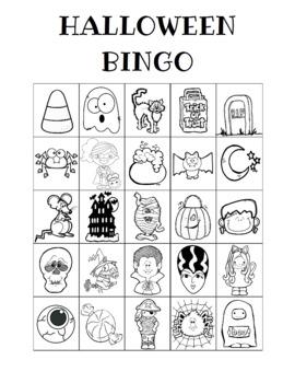 Halloween Bingo Custom Printables
