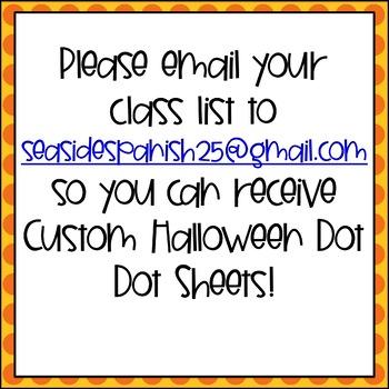 Halloween Dot Dot Name Practice (Custom Order)