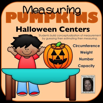 Measuring Pumpkins Halloween Centers - Customary Measurement