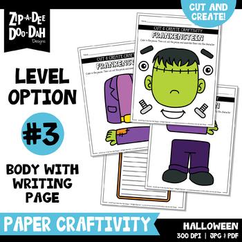 Halloween Cut & Create Writing Craftivity {Zip-A-Dee-Doo-Dah Designs}