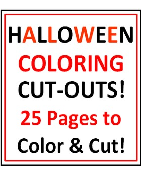 Halloween Coloring Cut-Outs!