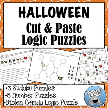 Halloween Cut & Paste Logic Puzzles