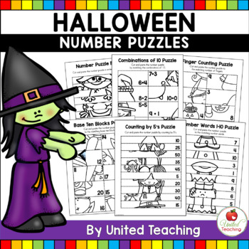 Halloween Cut & Paste Number Sense Puzzles