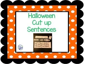 Halloween Cut Up Sentences