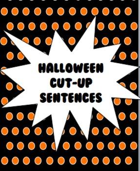 Halloween Cut-Up Sentences