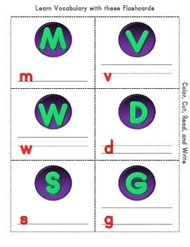 Halloween Cut and Color Worksheets