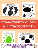 Halloween Cut and Glue Worksheets
