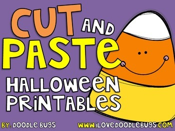 Halloween Cut and Paste Printables by Doodle Bugs Teaching ...