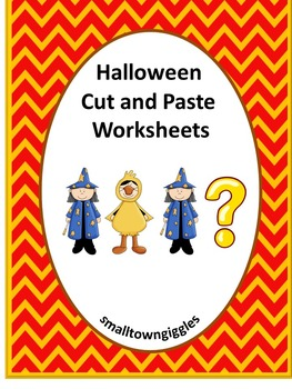Halloween  Cut and Paste Worksheets P-K,K, Special Educati