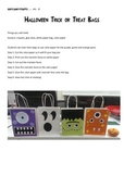 Halloween Cute Monster Face Trick or Treat Bags