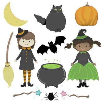 Halloween Cuteness! Sweet  Little Witches for Your Halloween Fun