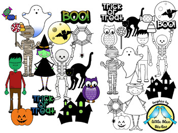 Halloween Cuties Clipart