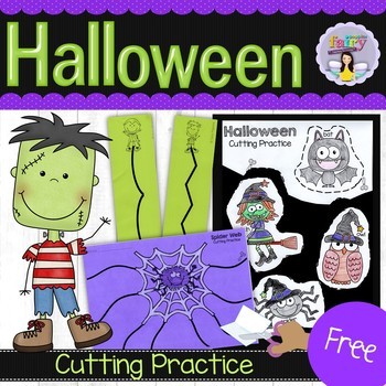 Halloween Cutting Practice Worksheets