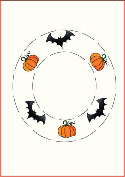 Halloween Cutting Skills Pages
