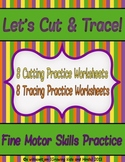 Halloween Cutting and Tracing Practice Worksheets