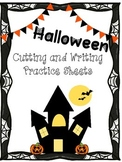 Halloween Cutting and Writing Practice Sheets