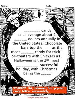 Halloween  DAZE & Cloze Activities