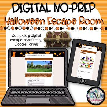 Halloween DIGITAL Breakout/Escape Room