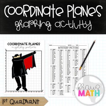 Halloween DRACULA DAB: Coordinate Plane Mystery Picture! (1st Quadrant)