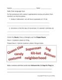Halloween Daily Oral Language Quiz - Freebie!