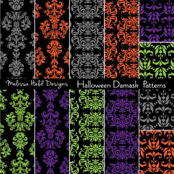 Halloween Damask Patterns