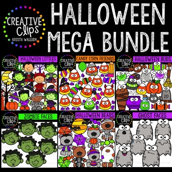 Halloween Clipart Mega Bundle {Creative Clips Clipart}