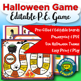Halloween Day Board Game for Physical Education, Elementary