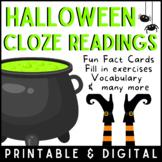 Halloween Day | Cloze Reading Activity | Digital