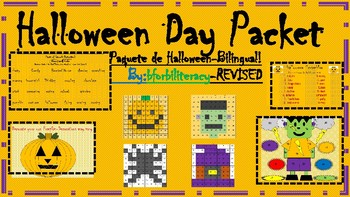 Halloween Day Packet-Bilingual! REVISED
