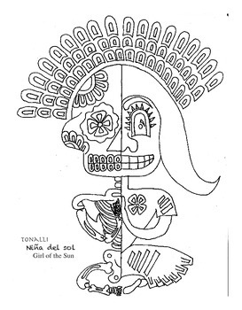 Halloween & Day of the Dead Coloring Book bilingual characters