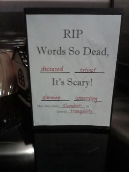 Halloween Dead Words Student Graveyard Booklet SURFFDOGGY