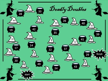 Halloween - Deadly Doubles; maths board game