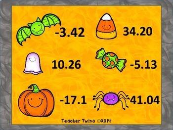 Halloween Decimal Bingo