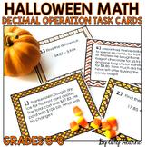 Halloween Decimal Operation Task Cards