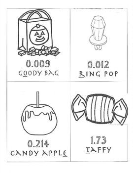 Halloween Decimal Ordering