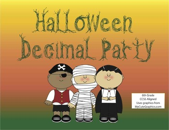 Halloween Decimal Party- Math Activity