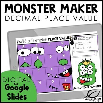 Halloween Decimal Place Value Review