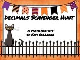 Halloween Decimal Scavenger Hunt #2