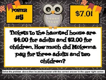 Halloween Decimal Scavenger Hunt - Common Core 5.NBT.7