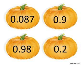 Halloween Decimal Sort