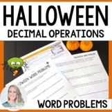 Halloween Decimal Operations Word Problems